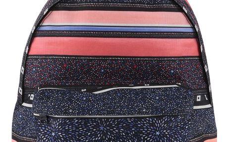Černý batoh s barevnými pruhy Roxy Be