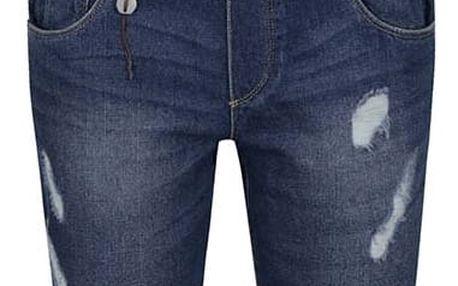 Modré džínové lacláče s potrhaným efektem ONLY Kim