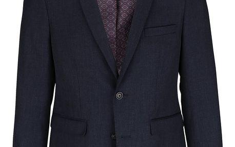 Tmavě modré slim fit sako Burton Menswear London