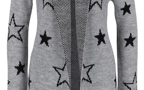 Šedý cardigan s hvězdami a kapucí Haily´s Sherine
