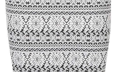 Černo-krémová vzorovaná sukně s rozparkem Broadway Siella