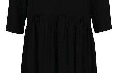Černé volné šaty s 3/4 rukávy VERO MODA Laos