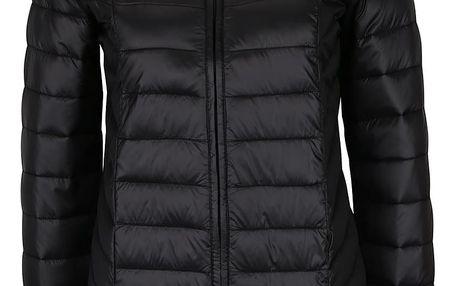 Černý lesklý prošívaný kabát Dorothy Perkins