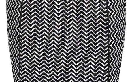 Bílo-černá pouzdrová vzorovaná sukně Smashed Lemon