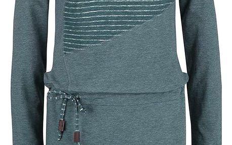 Petrolejové šaty s dlouhým rukávem Ragwear Chance