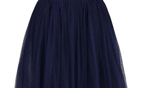 Tmavě modré šaty s ozdobným živůtkem Little Mistress
