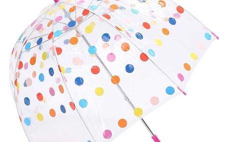 Průhledný deštník s barevnými puntíky Lindy Lou Joseph