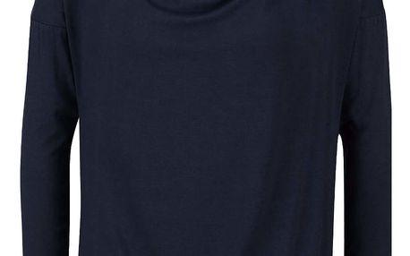 Tmavě modré tričko s vodovým výstřihem ZOOT