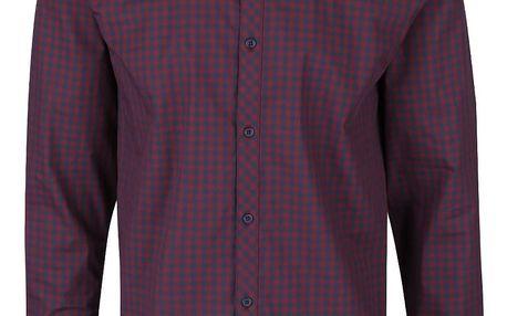 Modro-vínová kostkovaná košile Jack & Jones Gingham