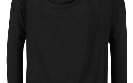 Černé tričko s vodovým výstřihem ZOOT