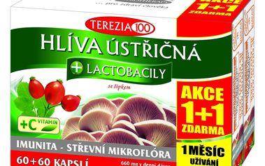 Terezia Company Hlíva ústřičná + lactobacily 60+60 tobolek