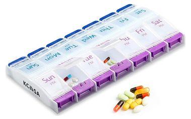 Týdenní box na léky (dopoledne a odpoledne)