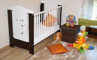 Dětská postýlka Bambino + rošt - wenge