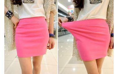 Krátká elastická sukně - 5 barev