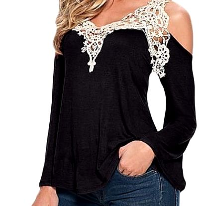 Dámské triko s odhalenými rameny a krásnou krajkou - více variant