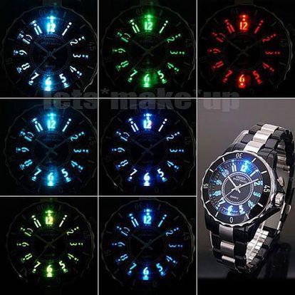 Sportovní LED hodinky - 7 barev podsvícení