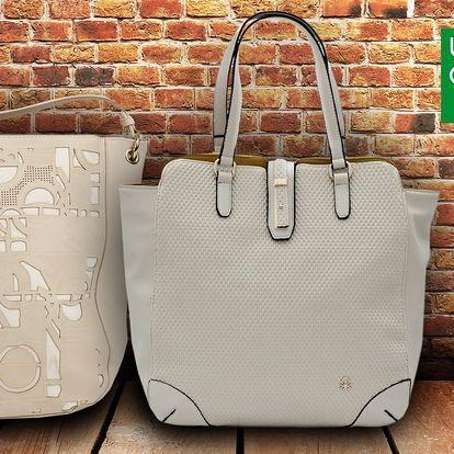 Kabelky Benetton - variace bílé a slonovinové