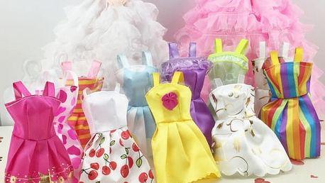 Šaty pro panenky v různých provedeních - 10 ks - dodání do 2 dnů
