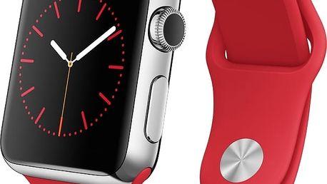 Chytré hodinky Apple Watch - 38mm pouzdro z nerezové oceli, (PRODUCT)RED MLLD2HC/A