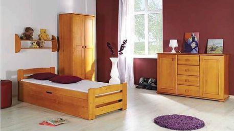 Dolmar Dětská postel LOLEK barevné provedení korpusu: bílá