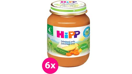 6x HIPP BIO zeleninová směs (125 g) - zeleninový příkrm