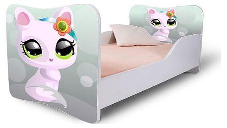 HMbec Dětská postel KITTY BOO rozměry postele: pro děti od 3 do 7 let (matrace 140 x 70 cm), Šuplík: se šuplíkem