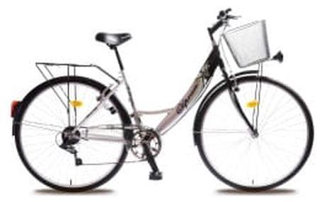 "OLPRAN Mercury Lux 28"" 2016 stříbrno-zelené crossové kolo"