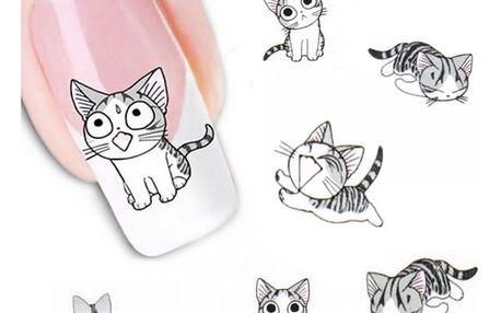 Samolepky na nehty - kočičky - dodání do 2 dnů