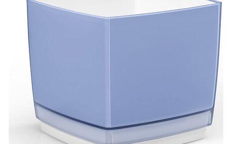 Plastový květináč Cube 200 modrá