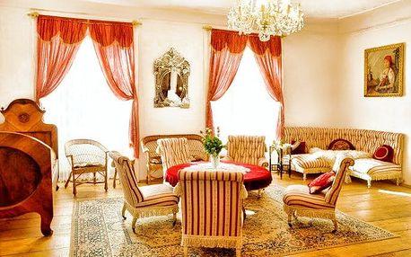 2 až 4denní pobyt se snídaní nebo polopenzí na zámku Úsobí pro 2 u Jihlavy