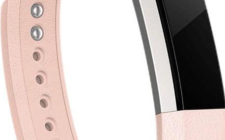 Fitbit Alta náhradní kožený pásek S, růžová - FB158LBBPS