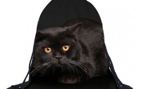 Vak na záda s černou kočičkou