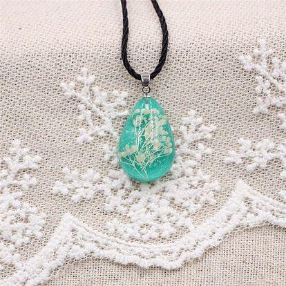 Světelný náhrdelník se sušenými květy - 7 variant