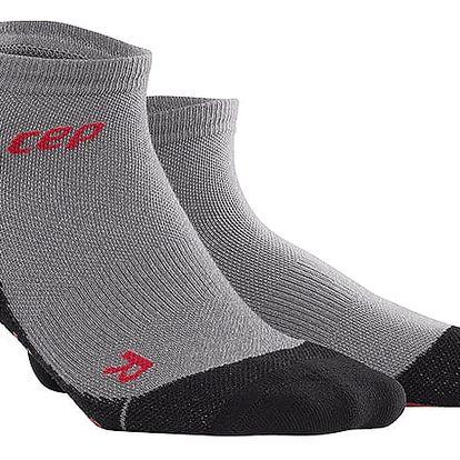 CEP Outdoorové kotníkové ponožky ultralight merino pánské volcanic stone V