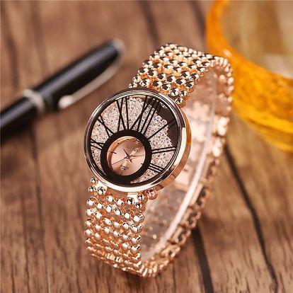 Dámské elegantní hodinky s kamínky - 3 barvy