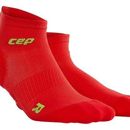 CEP Kotníkové ponožky ultralight pánské červená / zelená III
