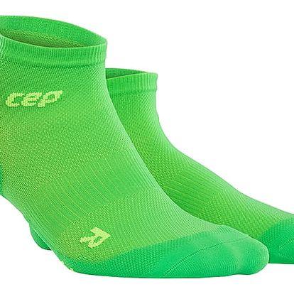 CEP Nízké ponožky ultralight pánské viper / zelená V