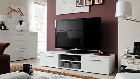 RTV stolek BONO II, bílá matná/bílá matná