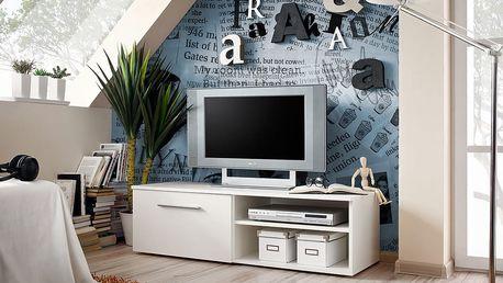 RTV stolek BONO I, bílá matná/bílá matná