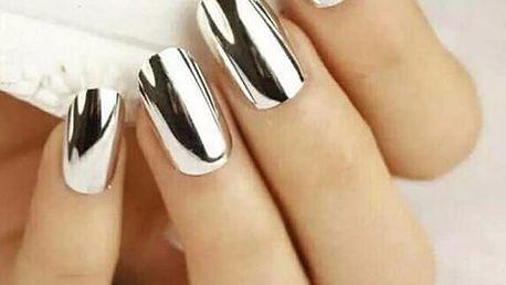 Leštící zrcadlový pigment na nehty - více variant
