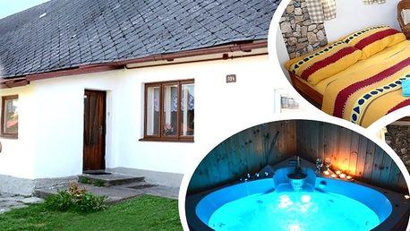 Wellness pobyt v apatmánech pro dva s polopenzí a masáží, privátní vířivka, finská nebo infra sauna.