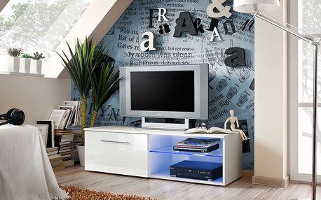 RTV stolek BONO IV, bílá matná/bílý lesk