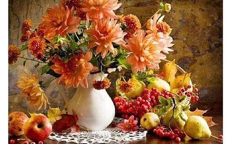 Obraz s motivem vázy s květinami - malování podle čísel