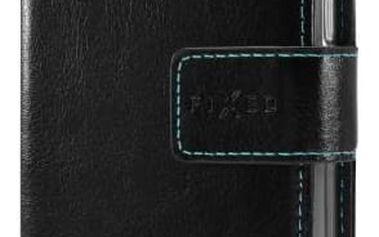 Pouzdro na mobil flipové FIXED Opus pro Huawei P8 Lite (FIXOP-043-BK) černé