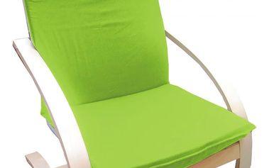 Relaxační křeslo žlutozelené 859