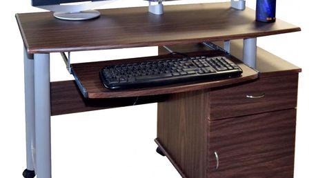PC stolek 2631 - tmavý ořech