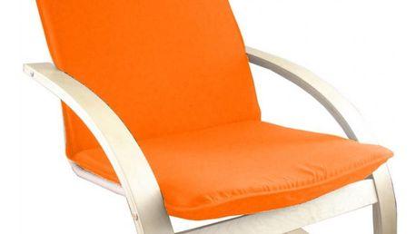 Relaxační křeslo oranžové 792