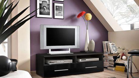 RTV stolek BERN, černá matná/černý lesk
