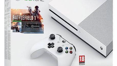 Herní konzole Microsoft Xbox One S 500 GB + Battlefield 1 (ZQ9-00038) bílá + Doprava zdarma