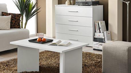 Konferenční stolek NANO, bílá